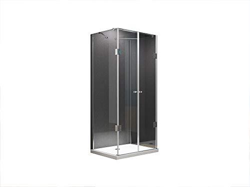 U Form Duschkabine Dusche Emma 90 x 75 x 180 cm / 8mm / ohne Duschtasse