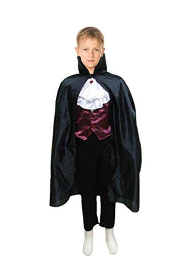TopNoch fashion Halloween-Kostüm, Vampir, Zombie-Krankenschwester, Teufel, Skelett, Zauberer, für Jungen und Mädchen, Complete Costume, schwarz