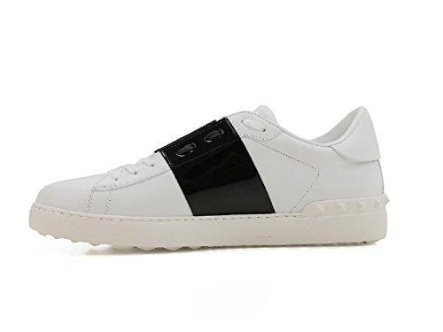 Valentino Sneakers Uomo in Pelle Bianco Fascia Nera - Codice Modello: MY0S0830 TCQ Bianco