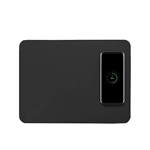 LCCGLR Power Pad schnelle Drahtlose Ladegerät Wireless Lade Gaming Maus Pad Qi Lade Drahtlose Gaming Maus QI schnelle Drahtlose Ladegerät Tragbare Drahtlose Ladegerät PU Mauspad