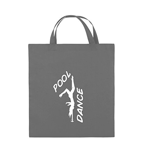 Comedy Bags - POOL DANCE - FIGUR - Jutebeutel - kurze Henkel - 38x42cm - Farbe: Schwarz / Pink Dunkelgrau / Weiss