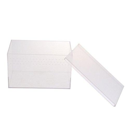 Homyl Acryl Reptilien Brutbox Fütterungsbox Transportbox - Typ 1-20.5x12.5x12.5cm