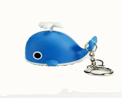 WODEJIAYUAN Neuheit-nette Wal LED KeyChain Schlüsselring-Fackel mit Licht u. Stichhaltigem Ton KeyChain Schlüsselring, der für Beutel hängt (Gefroren Für Drei-jährige)