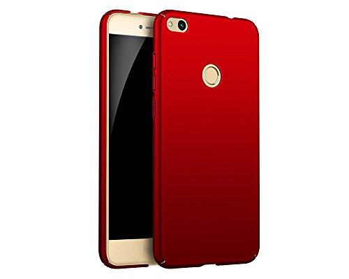 EIISSION Huawei P8 Lite (2017) Hülle, Hardcase Ultra Dünn Huawei P8 Lite (2017) Schutzhülle aus Hart-PC Case Cover Handyhülle für Huawei P8 Lite (2017) (Rot)