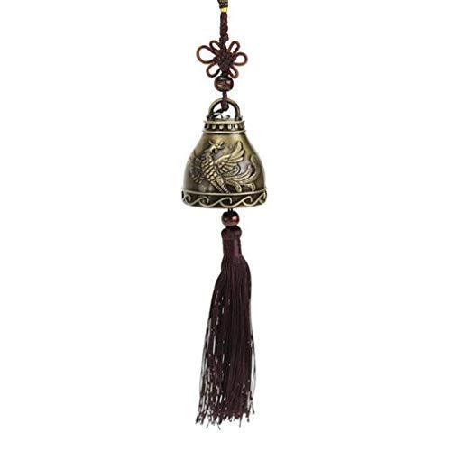 Lorsoul Vintage glückliche Wind Chime Feng Shui Glocke Blessing Wind Chime chinesischer Knoten für Good Luck Fortune-Start Auto Crafts -