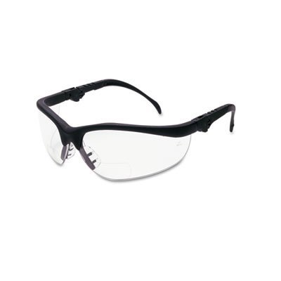 klondike-magnifier-safety-glasses-with-black-frame-and-clear-2-diopter-lens-by-crews