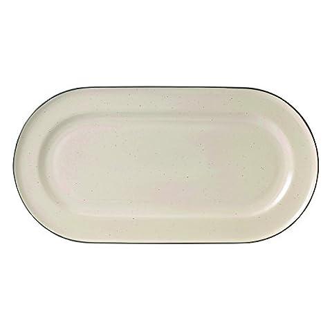 Servierplatte, cremefarben, 39cm-p, keramik, cremefarben, 2er-Packung (Keramik Pasta Bowl)