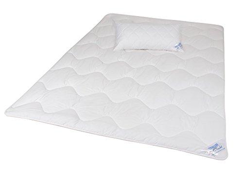 Traumnacht 3-Star Kopfkissen, weich und bequem aus softer Microfaser, 40 x 80 cm, waschbar, weiß - 3