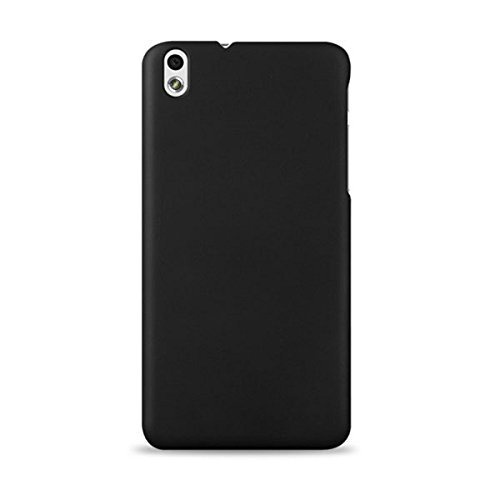WOW Imagine(TM) Rubberised Matte Hard Case Back Cover For HTC DESIRE 816 / 816G (Pitch Black)