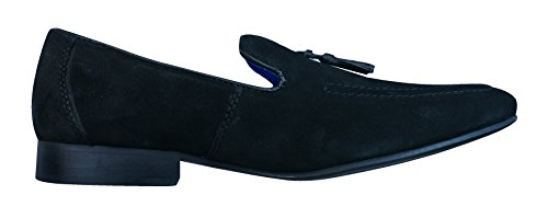 Red Tape Apsley hommes en daim Loafers / Chaussures Black