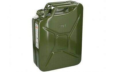 BIDON Essence Metal Militaire 20 L JERRICAN Armee 4X4 Voiture Fuel TOLE US Vert