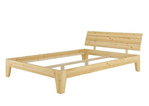 Erst-Holz® Doppelbett Massivholz-Bettgestell Kiefer Natur 140x200 Futonbett ohne Zubehör 60.62-14 oR - Kiefer Bettgestell
