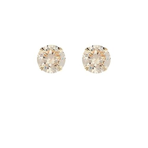 9ct gold 5mm CZ crystal birthstone stud earrings. Gift box ARxMa