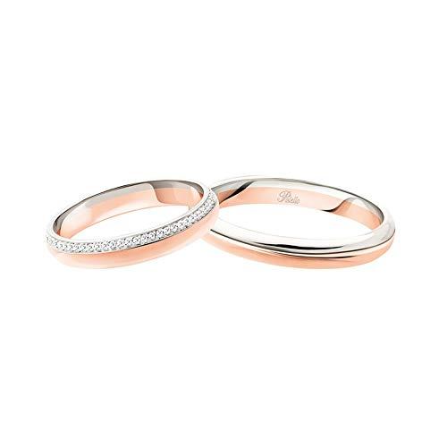 Fedi Polello In Oro Bianco E Oro Rosa 18 Kt 750/1000 Modello 3116 Dbr - Ubr, 12