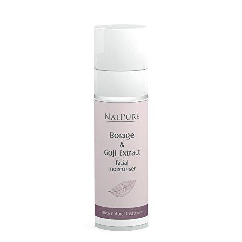 NatPure Borage Goji facial moisturiser 100% Naturkosmetik Gesichtscreme Vegan Bio 30ml