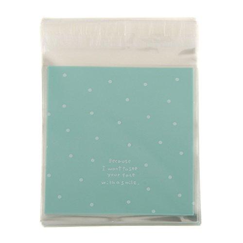 100x-autoadhesivas-galleta-de-caramelo-envolturas-embalaje-bolsas-pequenos-puntos-azules