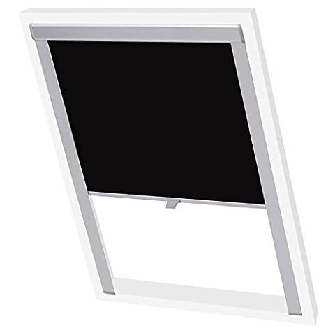 vidaXL Store enrouleur occultant Noir M06/306/MK06 Rideau rouleau pour fenêtre de toit