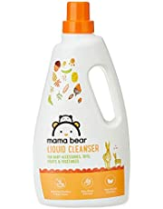 Amazon Brand - Mama Bear Plant Based Baby Liquid Cleanser - 1 L (For baby bottles, accessories, toys, fruits & vegetables)