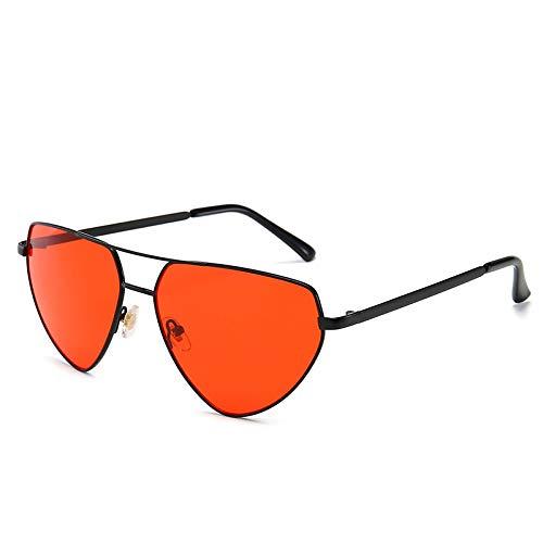 Fashion Sonnenbrille Europa und die USA Herren und Damen Sonnenbrille Netz rot Catwalk Sonnenbrille Puder wie abgebildet
