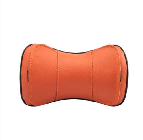 orange Lederfaser Auto Kopfstütze Leder Automobil liefert vier Jahreszeiten Nackenschützer ein Paar