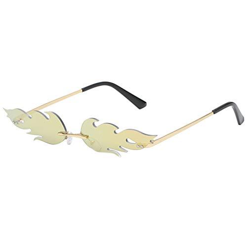 Produp Unisex Fashion Unregelmäßige Form Sonnenbrille Brille Vintage Retro Style Sommertourismus Posieren Strand Film Brillen