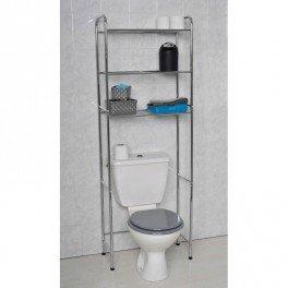 Tendance Maison Meuble de rangement wc en métal chromé