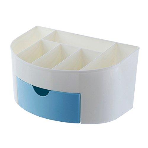 Loveso New Make-Up Kosmetiktasche Beauty Artist Aufbewahrungsbox Pinsel Tasche Veranstalter (22*14*11 cm, Blau) (Knopf-welt-taschen)