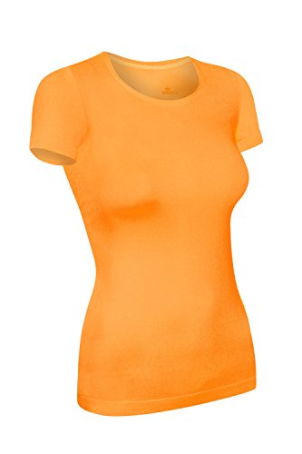 Assoluta Damen T-Shirt Kurzarm, Größe XL, neon orange -
