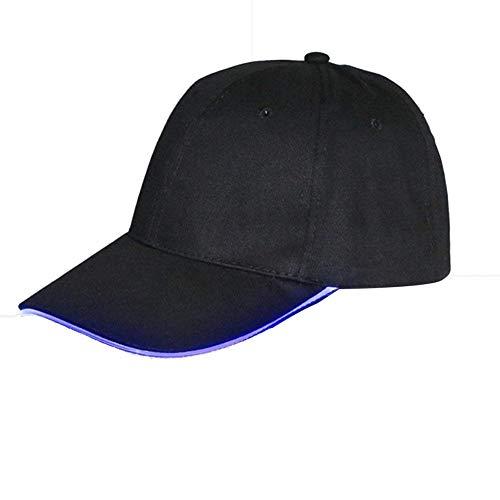 Baseball Kappe Reise Cap Herren Schlichte Jungen Baseballkappe LED Beleuchtet L