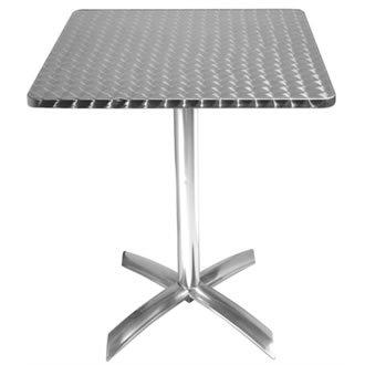 Bolero quadratischer Tisch mit abklappbarer Tischplatte, Edelstahl, 720x 600x 600mm, für Restaurant, Bar, Café -
