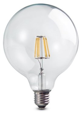 LED Globus Globo E27 7W klar dekorativ vintage