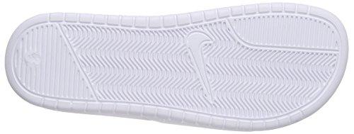 Nike - Benassi Shower Slide, Scarpe da Spiaggia e Piscina Uomo Bianco (Weiß (White/Black 100))