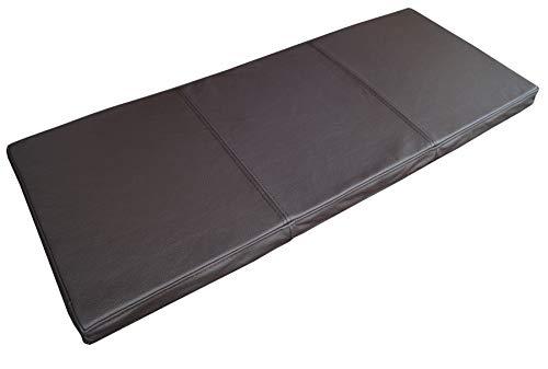 Quattro Meble Dunkelbraun Echtleder Bankauflage Sitzkissen Lederkissen Sitzpolster Bank Auflage doppelt genähtes Echt Leder Kissen Sitzauflage (40 x 100 cm)