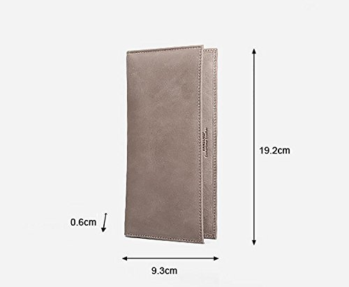 ZXDOP Brieftasche Männer Leder Brieftasche Retro Herren Zipper Lange Dünne Herren Leder Brieftasche ( farbe : 8# ) 2#