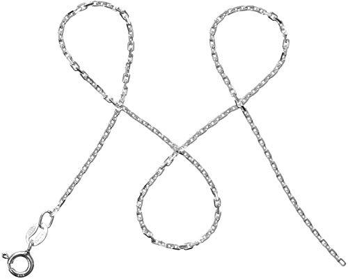 modabilé Damen Ankerkette Delicate 70cm mit Etui I Halskette aus 925 Sterling Silber I Silberkette Ohne Anhänger I 1,55mm I Made in Europe