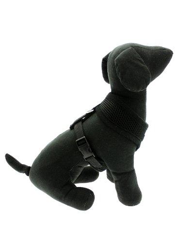 "UrbanPup Jet Black Soft Harness (X-Small - Dog Chest Circumference: 10"" / 25cm) 4"