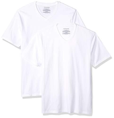 7912b2ab1602 Amazon Essentials 2-Pack Slim-fit V-Neck T-Shirt Camiseta,