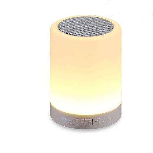 Kepeak Nachtlicht Bluetooth Lautsprecher Beleuchtung, Touch Lampe Dimmbar 7 Farbwechsel, Nachttischlampe für Kindergarten, Kinderzimmer, Schlafzimmer(Mehrweg) -