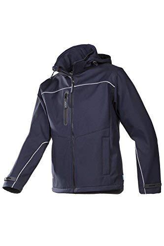Soft-laminiert (Frederik Sioen 9934a2tu1m44m Haushalte laminiert Soft Shell Jacke mit abnehmbarer Kapuze, Größe M, grau)