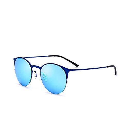 Easy Go Shopping Frauen Cat Eyes Light Sonnenbrillen TR90 Frame UV-Schutz Sonnenbrillen für den Urlaub am Strand Strand Sonnenbrillen. Sonnenbrillen und Flacher Spiegel (Farbe : Gold)