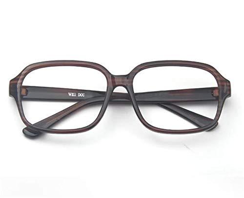 KOMNY Herren 150mm große Box großes Gesicht breites Gesicht RetroAnti-blau Lichtstrahlung Lesebrille im Rahmen Brille weiblich braun, A + 200
