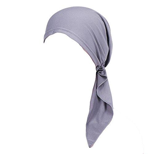 KPPONG Heißer Frauen Chemo Cap Haarausfall Kopf Schal Muslim Stretch Turban Hut Wrap ()