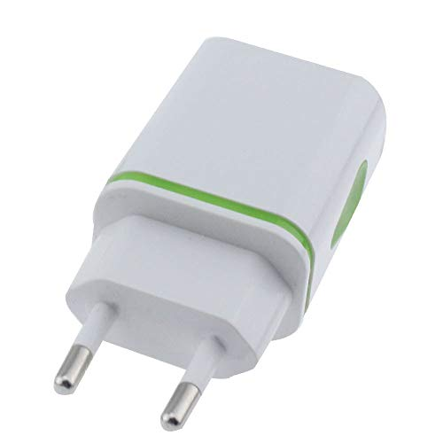InSense️3.1A Triple USB Port Wall Home Travel AC Charger Adapter for S6 EUPlug (Green)