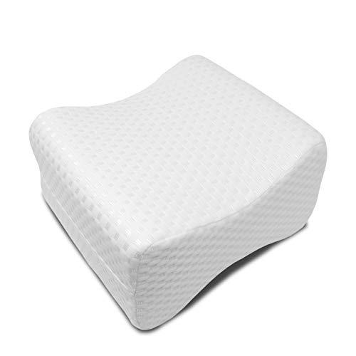 Orthopädisches Kniekissen für Seitenschläfer von Luxamel gegen Hüft Rücken und Knie Schmerzen/sorgt für Druckentlastung/Memory Foam mit abnehmbaren und waschbaren Bezug