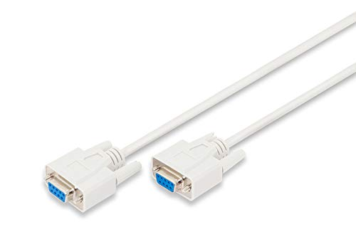 DIGITUS Serielles Anschluss-Kabel - D-Sub 9 zu D-Sub 9 - Buchse zu Buchse - 2.0m - RS-232 - RS-485 - Beige -