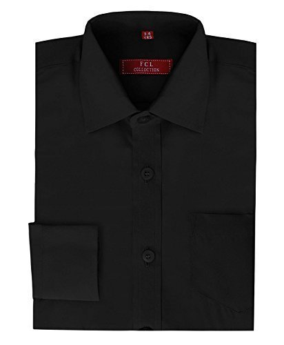 Boys Plain Shirt in Black 9-10 Years