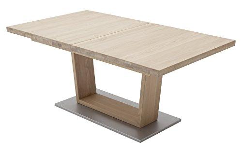 Robas Lund, Tisch, Esszimmertisch, Cantania, Eiche/Massivholz/bianco, 140 x 90 x 77 cm, CAN14ABE