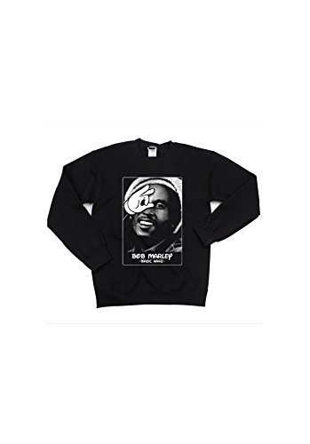 Magic Hand - Sweat col rond Bob Marley Blanc