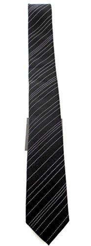 Calvin Klein Seidenkrawatte mit Streifen schwarz Elegance