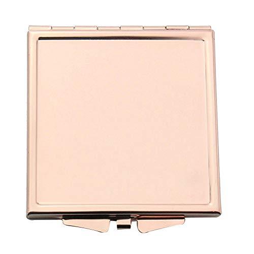 Espejo Monedero Portátil Rosa De Oro Maquillaje Compacto Espejo Del Espejo Del Bolsillo Plegable Para Viajar, Forma-Camping Square